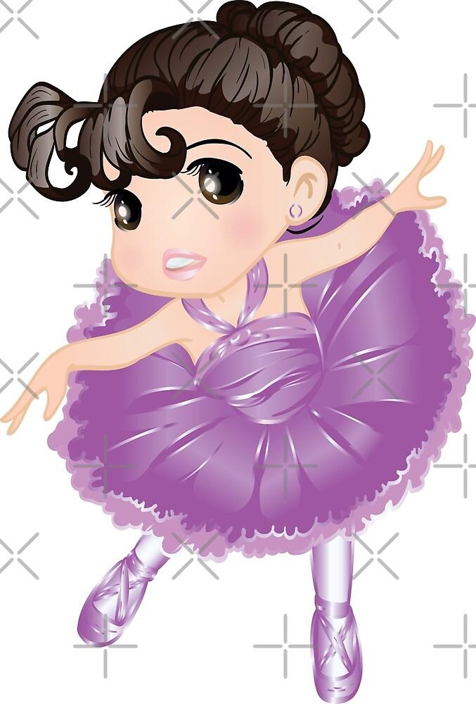 Cute Little Violet Vector Ballerina by Tian123