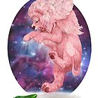 Lion meets cucumber with celestial background by Lavinia Knight