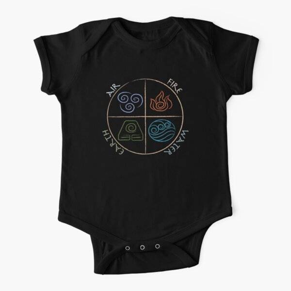 Four Elements Short Sleeve Baby One-Piece