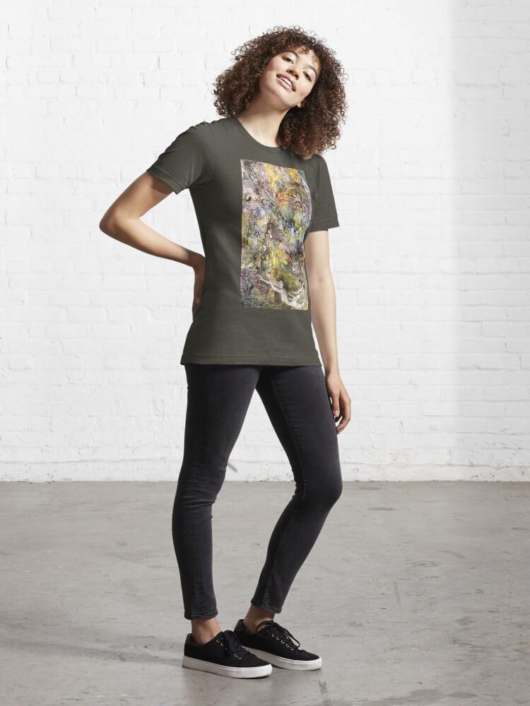 Alternate view of Portrait Yin Yang Essential T-Shirt