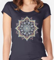 Intricate Flower Star Women's Fitted Scoop T-Shirt
