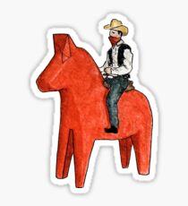 Cowboy Dala Sticker