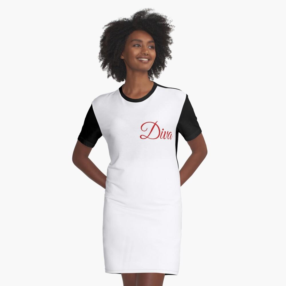 Diva Graphic T-Shirt Dress