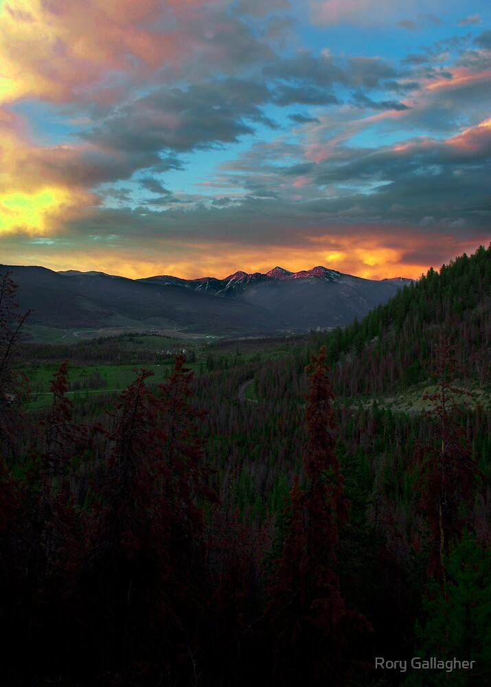 Greys and Torreys, sunset by Rory Gallagher