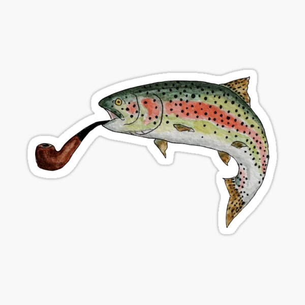 Trout Pipe Sticker
