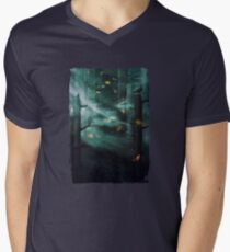 In the Woods Tonight Mens V-Neck T-Shirt