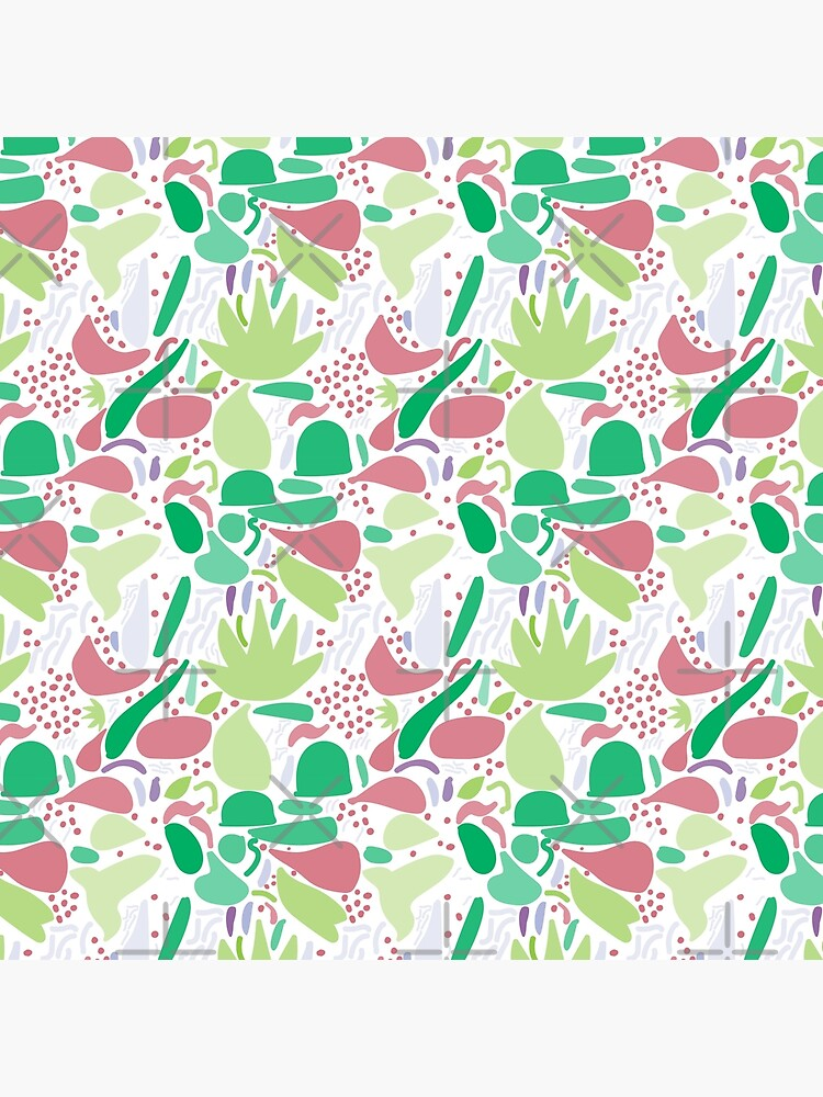 Colorful shapes - Green on White Background by enlarsen