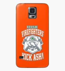 Irish Firefighters Kick Ash! St Patrick Humor T-Shirt Gift Case/Skin for Samsung Galaxy