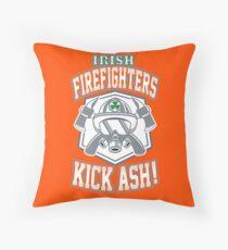 Irish Firefighters Kick Ash! St Patrick Humor T-Shirt Gift Throw Pillow
