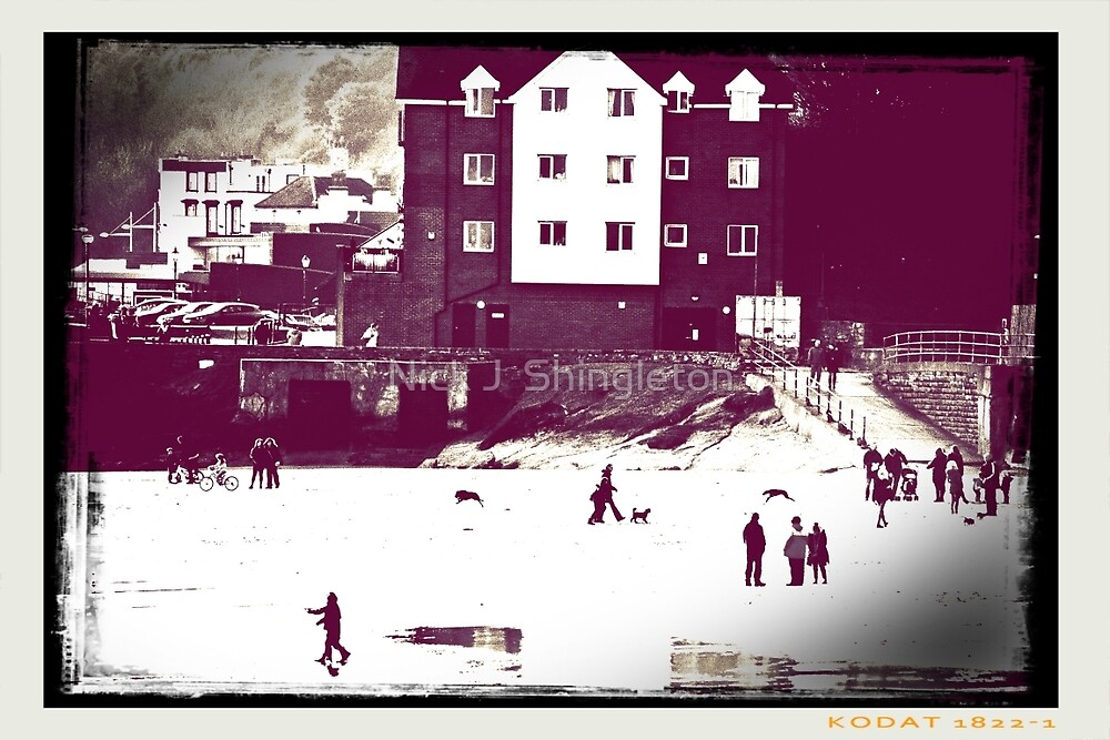 The Beach in Winter by Nick J  Shingleton