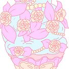 Pastel Cream Floral Cupcake by aidadaism