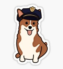 Cheddar with Police Hat Sticker