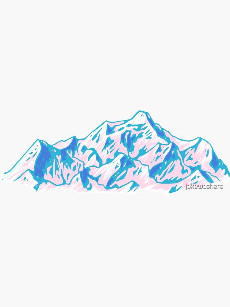 Montañas de la cascada de jakewashere