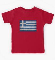 Flag of Greece - Retro vintage Kids Tee