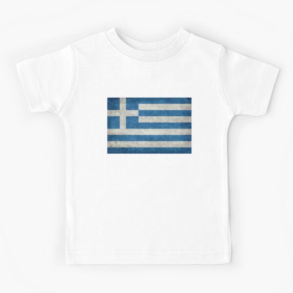 Flag of Greece - Retro vintage Kids T-Shirt