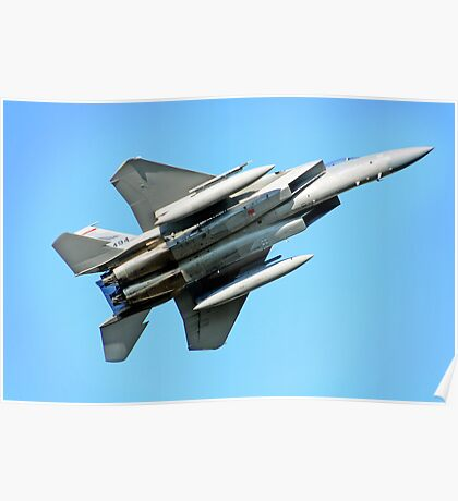 F-15 Fighting Redhawks Poster