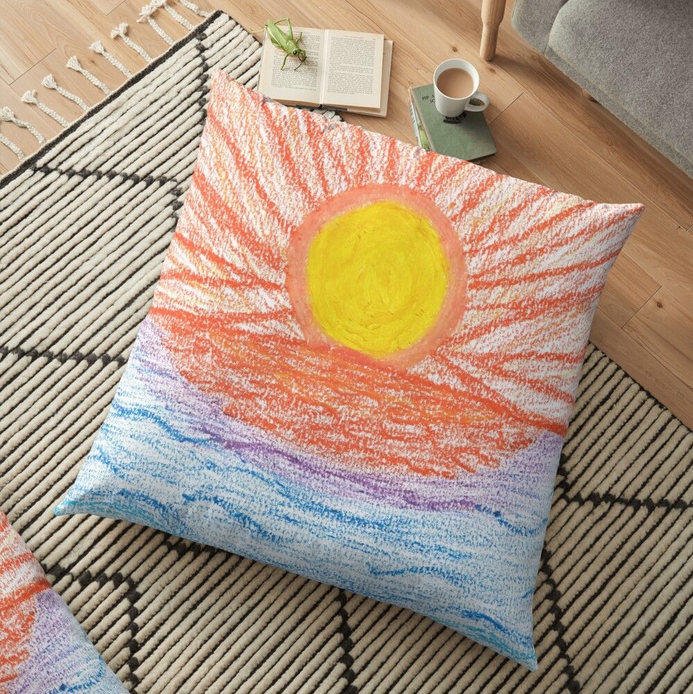 Merch #28 -- Sea Sunset Floor Pillow