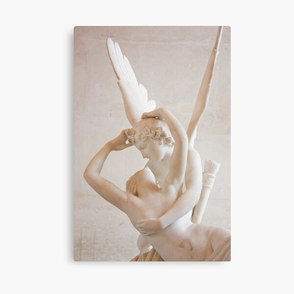 Psyche revived by Cupid's kiss Canvas Print
