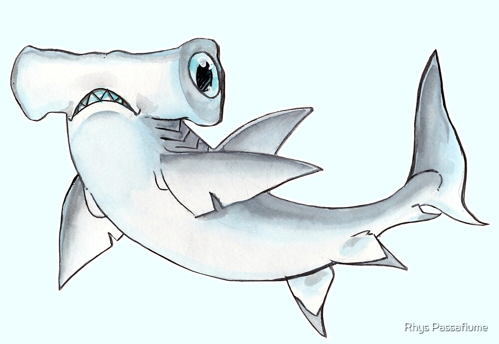 Tommy the Great Hammerhead by Rhys Passafiume