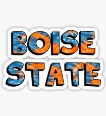 Boise State Block Tie Dye Sticker