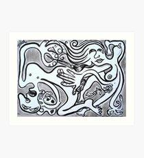 ecstasy of creating art (homage to Paul Ramnora) Art Print