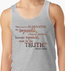 Sherlock Holmes - Eliminate the Impossible Tank Top