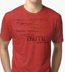Sherlock Holmes - Eliminate the Impossible Tri-blend T-Shirt