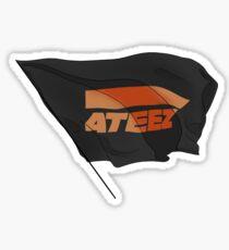 ATEEZ flag black Sticker
