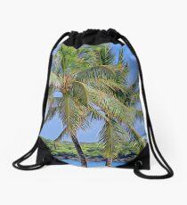 Under the Coconut Tree Drawstring Bag