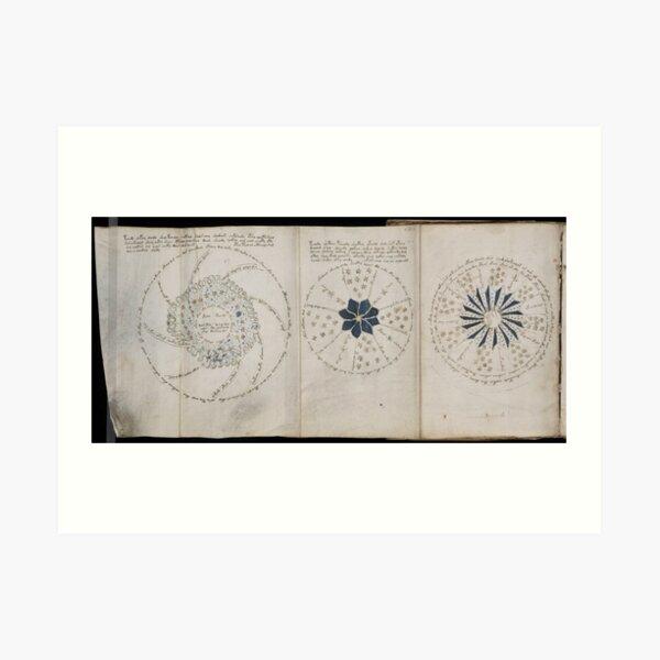 Voynich Manuscript. Illustrated codex hand-written in an unknown writing system Art Print