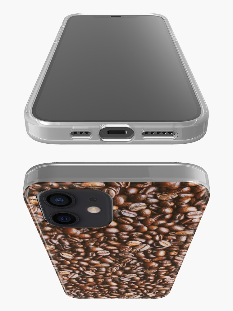 Alternate view of Coffee Bean Photo Pattern iPhone Case & Cover