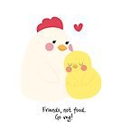 Friends, not food. Go veg! by Edge-of-dreams
