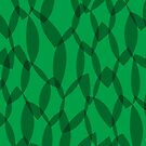 Overlapping Leaves - Dark Green by Autumn Musick