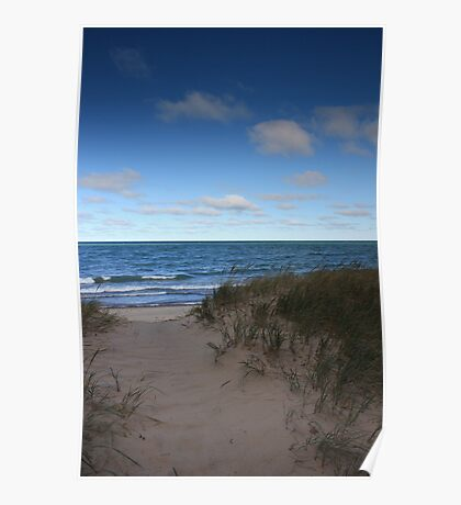 Sand Dunes on lake Superior Poster
