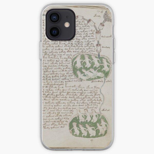 Voynich Manuscript. Illustrated codex hand-written in an unknown writing system iPhone Soft Case