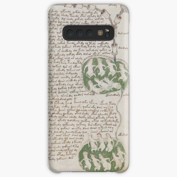 Voynich Manuscript. Illustrated codex hand-written in an unknown writing system Samsung Galaxy Snap Case