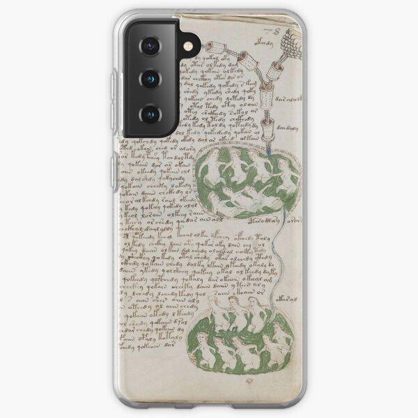 Voynich Manuscript. Illustrated codex hand-written in an unknown writing system Samsung Galaxy Soft Case