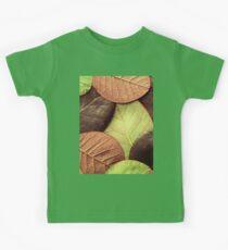 Brown Leaf Pattern Kids Tee