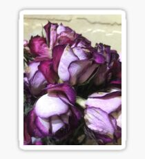 Dried Purple Roses Sticker