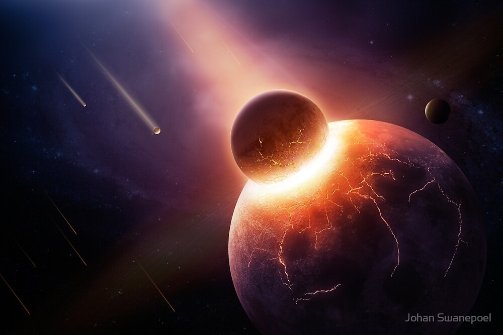 When planets collide by Johan Swanepoel