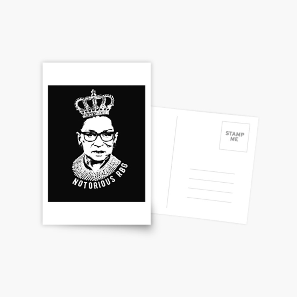 A6 POSTCARD Notorious Almighty 45 Ruth Bader Ginsburg