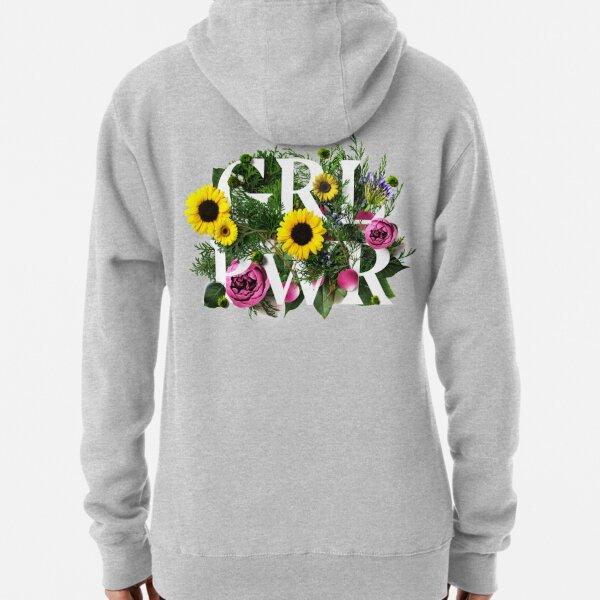 Girl Power Flowers Pullover Hoodie