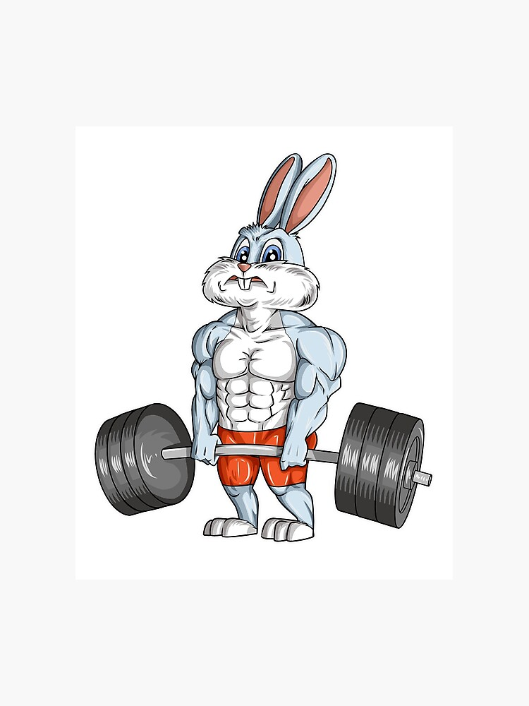 Easter Bunny Bodybuilding Gym Fitness Workout T Shirt Gift