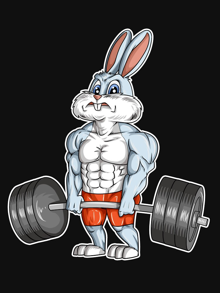 Easter Bunny Bodybuilding Gym Fitness Workout T Shirt Gift T Shirt