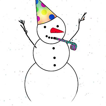 Celebrating Snowman by Gravityx9