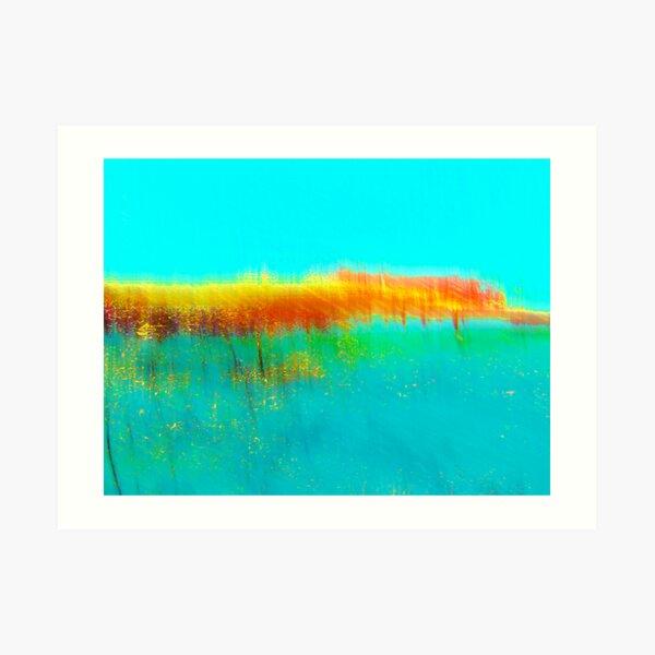 dock reflection..... sketches Art Print