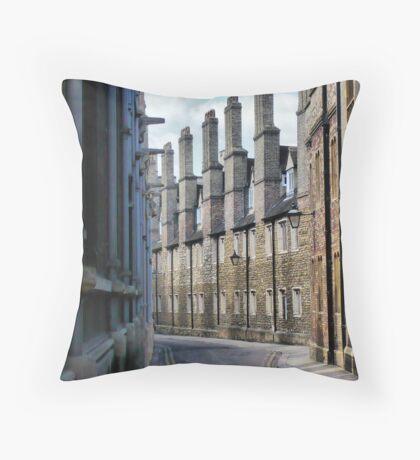 A street in Cambridge. Throw Pillow