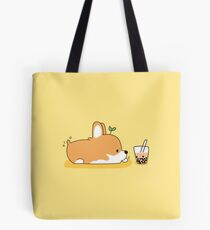 Corgi and Bubble Tea  Tote Bag