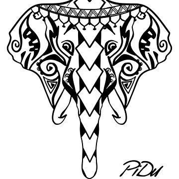 Elephant Maori by PiDu by cartoonblog