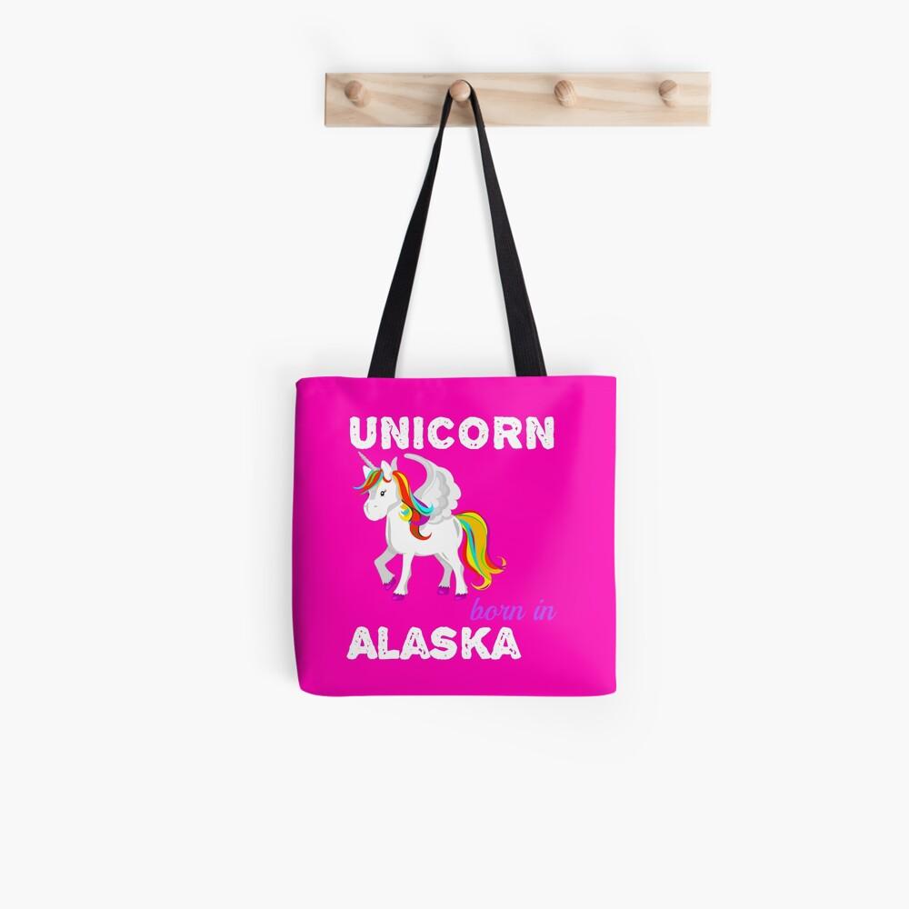 Einhorn in Alaska geboren Stofftasche